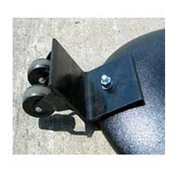 Add-On Wheel Fits Movable Cast-Iron Sign Bases of 20-pounds or 40-pounds allowing for the sign stand to be rolled instead of lifted when moving or relocating the sign
