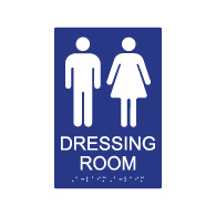 ADA Compliant Unisex Dressing Room Sign- 6x9