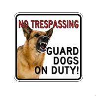 Guard Dogs On Duty Window Decals - 6x6 - Package of 3