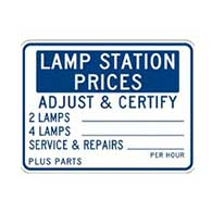 Lamp Station Price Sign - 24x18