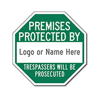 Customized Security Company STOP Signs for Sale - 12x12
