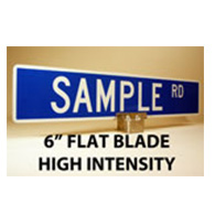 Custom Street Name Signs - 6 Inch High - Flat Blade - HIP
