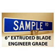 Custom Street Name Signs - 6 Inch High - Extruded Blade - EGP