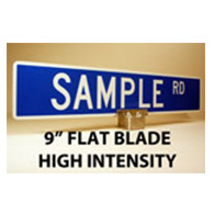 Custom Street Name Signs - 9 Inch High - Flat Blade - HIP