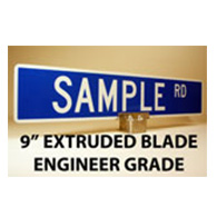 Custom Street Name Signs - 9 Inch High - Extruded Blade - EGP
