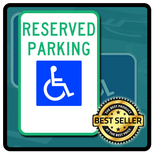 R7-8 Federal Handicap Parking Sign - No Arrows - 12x18