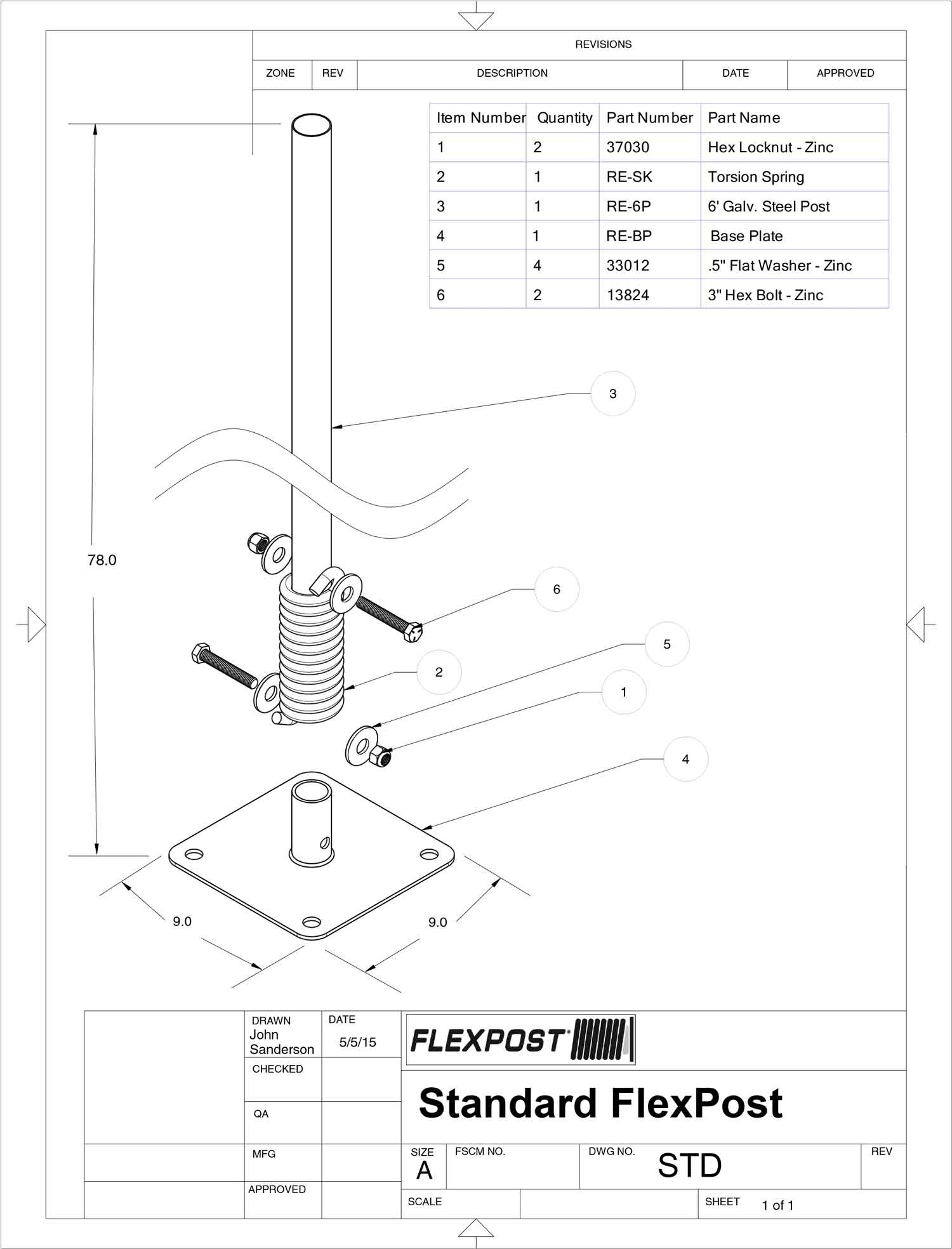 Click Here To View A Product Assembly Guide For The 65 Surface Mount Flexible Sign Post