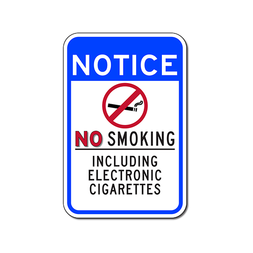 No Smoking Sign Including Electronic Cigarettes