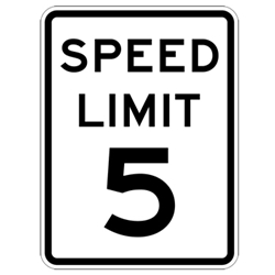 Speed Limit Signs 12x18