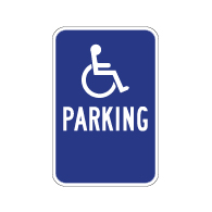 Handicapped Disabled Parking Guide Sign - No Arrows - 12x12 - Reflective Rust-Free Heavy Gauge Aluminum Accessibility Signs