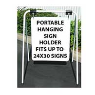 Portable Hanging Sign Holder for Signs up to 24x30 only in size - Can display signs in two directions