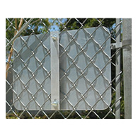 This 18-Inch Bracket is used for mounting 12x18 or 18x18 signs to chain-link fences and meshed security gates.