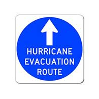 Hurricane Evacuation Route Sign - 24x24