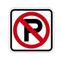 R8-3A No Parking Symbol Signs - 8x8
