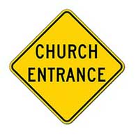 Reserved For Church Parking Signs 12x18 - Reflective Rust-Free Heavy Gauge Aluminum