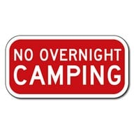 No Overnight Parking Violators Will Be Towed At Vehicle Owner's Expense And Risk Signs -12x18 - Reflective Rust-Free Heavy Gauge Aluminum No Parking Signs