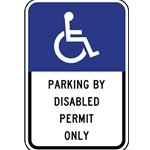 B-Stock: FTP-20-04 Florida State Parking By Disabled Permit Only Sign - 12x18 - Official State of Florida Handicapped Parking Sign