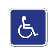 ADA Disabled Wheelchair Accessible Guide Signs - No Arrows - 12x12  - Reflective Rust-Free Heavy Gauge Aluminum