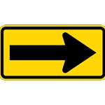 B-Stock: W1-6R - Right Arrow Warning Sign - 24x12 - Official MUTCD Reflective Rust-Free Heavy Gauge Aluminum Road Signs