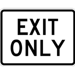 Exit Only Parking Lot Signs - 24x18 - Reflective Heavy Gauge Aluminum Exit Only Signs for Parking Lots