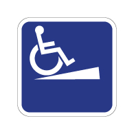 Outdoor Rated Aluminum Wheelchair Ramp Sign - With or Without Directional Arrow - 12x12 - Reflective Rust-Free Heavy Gauge (.063) Aluminum ADA Signs