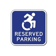 Active Wheelchair Symbol Reserved Parking Only Signs - 12x12 - Reflective Rust-Free Heavy Gauge Aluminum ADA Parking Signs