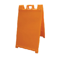 Orange Portable Two-Sided A-Frame Sign Holder - Fits Signs Up To 24X36