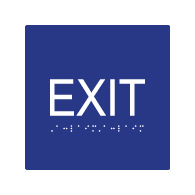 ADA Compliant Exit Signs with Tactile Text and Grade 2 Braille - 6x6