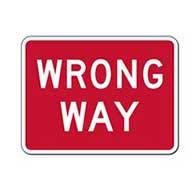 R5-1A-MOD Wrong Way Signs - 24X18 - Official MUTCD Reflective Rust-Free Heavy Gauge Aluminum Road Signs