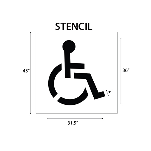 Isa Wheelchair Symbol Pavement Stencil 36 Isa
