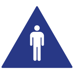 ADA Compliant Mens Restroom Door Signs with Male Symbol - 12x12