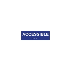 ADA Compliant Accessible Sign with Tactile Text and Grade 2 Braille - 6x3 Size