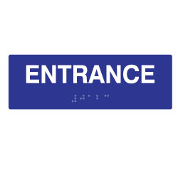 ADA Compliant Entrance Signs with Tactile Text and Braille - 6x2