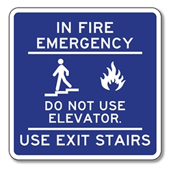 In Fire Emergency Do Not Use Elevator Use Exit Stairs
