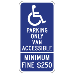 R99C-MOD California Disabled  Van Accessible Combo Sign 12x24