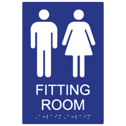 ADA Compliant Unisex Fitting Room Sign- 6x9