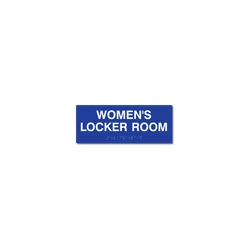 ADA Women's  Locker Room Sign with Tactile Text and Grade 2 Braille - 10x4