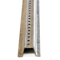 6-Foot Galvanized U-Channel Sign Posts - Heavy Gauge