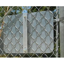 This bracket is only for mounting 12x12 or 18x12 rectangular signs to chain-link fences and some meshed security gates.