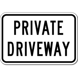 Private Driveway Do Not Enter sign- 12X18 - Reflective rust-free heavy gauge aluminum Private Driveway sign