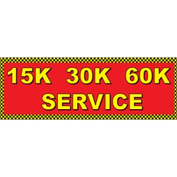 Full Color 15K 30K 60K Service Banners - 72x24
