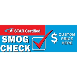 California SMOG CHECK Banner - Custom Price Banner - 72x24