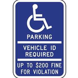 B-Stock: Minnesota Handicap Parking Sign With Fines - 12x18