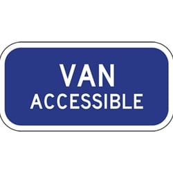 R7-8B Van Accessible Handicap Parking Signs - 12x6 - Reflective Rust-Free Heavy Gauge Aluminum ADA Parking Signs