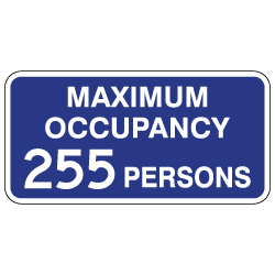 Maximum Occupancy Sign - 12x6 - Reflective aluminum Maximum Occupancy signs