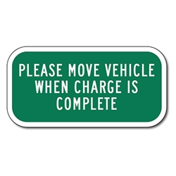 Electric Vehicle Charging Only Level One Sign - 12x18 - Reflective Rust-Free Heavy Gauge Aluminum Electric Vehicle Parking Signs