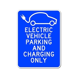 Post Informational Signs for Hybrid Electric Vehicle' Charging Stations