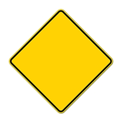 Blank Reflective Warning Sign -  Rust-Free Heavy Gauge (.063) Aluminum Road Signs