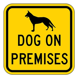 BuyDog on Premises Security Signs - 12x12 - Reflective Aluminum Guard Dog Signs