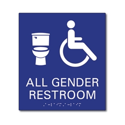Ada Bathroom Signage ada compliant gender neutral symbols bathroom wall sign - 8x9